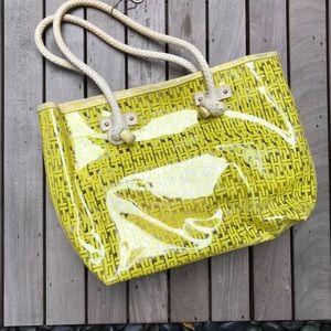 Tommy Hilfiger | Yellow & Clear Beach Bag w Wallet